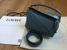 Authentic Loewe Puzzle Bag - Small in Stone Blue