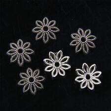 120Pcs Tibetan Silver Flower Bead Cap 10mm