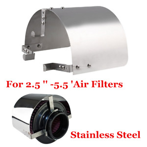"Stainless Steel Universal Heat Shield 2.5 '' -5 "" Cone Filter Cold Air Intake"