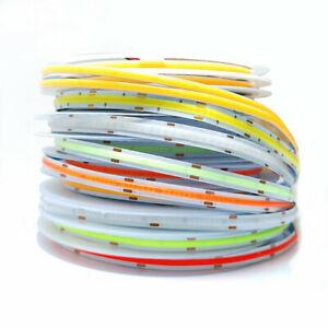 High Density Flexible COB LED strip Light 384 528 LEDs/m 12V 24V RA90 tape lamp