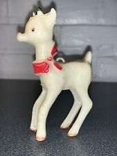 Vintage Rudolph Plastic Reindeer From The 1950'S 3.5 Inches Tall