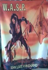 WASP W.A.S.P. The Last Command FLAG CLOTH POSTER TAPESTRY BANNER CD Heavy Metal