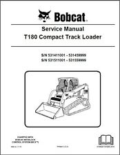Bobcat T180 Compact Track Loader Service Manual on CD