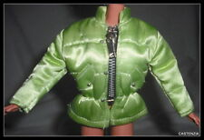 TOP  BARBIE DOLL MILLICENT ROBERTS SNOW CHIC WINTER GREEN ZIPPER SKI JACKET COAT