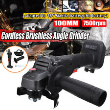 800W Cordless Brushless Angle Grinder 7500rpm For 18V Makita Li-ion Battery