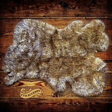 Shag Sheepskin Rug Light Wolf Lynx Carpet Pelt Throw Rug Faux Fur Accents