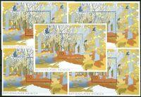 5 x Bund Block Nr. 52 sauber postfrisch BRD Nr. 2105 Nationalparks IV 2000 MNH