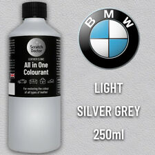 BMW LIGHT SILVER GREY Leather Dye Car Leather Interior Repair Restore Paint