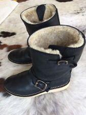 Frye Women's Motorcycle Style Boots Black Leather Sheepskin Sz 8 B