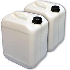 2 Stück 10 Liter Wasserbehälter Kanister stapelbar Kunststoff Skala wei�Ÿ DIN 45