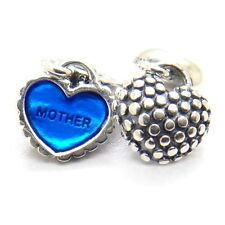 NEW A PAIR S925 CHARM PANDORA MOTHER/SON PIECE OF MY HEART #791152EN08