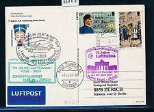 66801) LH SF Berlin - Zürich Schweiz 6.4.2001, Br.Tor, card Jersey scout 1