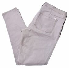 HOLLISTER Womens Low Waist Trousers W32 L29 Khaki Cotton Super Skinny  F203