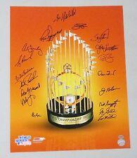 0728-65 1983 WSC Orioles Team Signed 16x20 Photo 18 AUTO 's Palmer HOF LEAF COA
