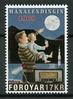 Faroe Islands Faroes 2019 MNH Apollo 11 Moon Landing 1v Set Space Stamps