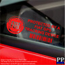 5 x RED- FIAT GPS Tracking Device Security Stickers-Punto,500-Car Alarm Tracker