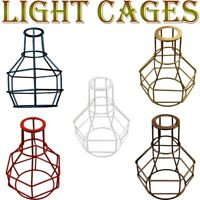 Vintage Metal Cage Industrial Wire Light Loft Ceiling  Frame Pendant Lamp Shade