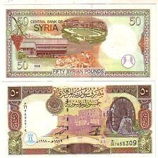 Siria Syria 50 pounds 1998     FDS UNC      Pick 107      Lotto 2784