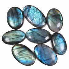 8 Pcs Natural Labradorite AAA Blue Fire Finest Quality Flashy Cabochon Gemstones