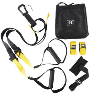Suspension Trainer Kit Bodyweight Fitness Yellow TRX Workout Training StrapsP3-3