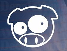 SCOOBY PIG Mascot Rally Car/Window/Bumper Vinyl Sticker Ideal for Subaru Impreza