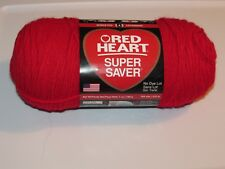 NEW Red Heart Super Saver Cherry Red Acrylic Yarn 198 g Made in USA E300 0319