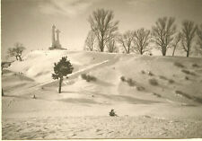 c1920s JAN BULHAK Polish PICTORIALIST Large Photo FABULOUS WINTER SCENE Warsaw