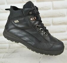 ECCO Gore-Tex Waterproof Womens Black Leather Outdoor Boots Size 7.5 UK 41 EU