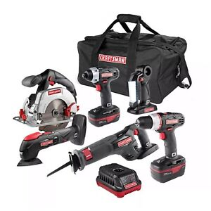 Craftsman 6 pc 19.2V C3 Cordless Power Tool Kit with Lithium-Ion Technology -New