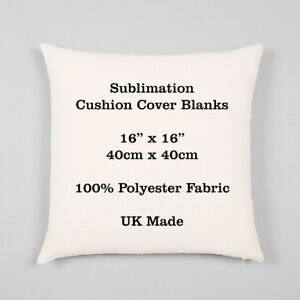 """Sublimation Cushion Cover Blank - 100% Polyester 16"""" / 40cm Transfer Heat Press"""