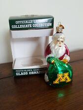 Old World Christmas Collegiate University of Minnesota Santa Ornament