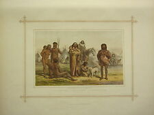 1882 VICTORIAN PRINT ~ ABORIGINES OF SOUTH AMERICA ~ BOTOCUDOS BRAZIL PATAGONIA