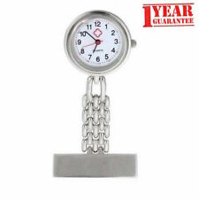 Stainless Steel Nurse Watch Quartz Brooch Fob Watches With 1 Year Guarantee UK