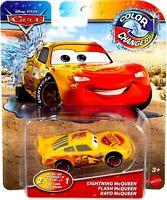 🔥 NEW Disney PIXAR CARS LIGHTNING MCQUEEN 3 (2 In 1) Color Changers Mattel RARE