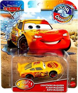 PIXAR CARS Color Changers LIGHTNING MCQUEEN (2 In 1) Mattel RARE