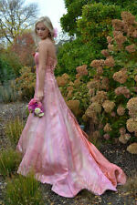 Vera Wang Wedding Gown Dress 100% Silk Blush Pink Purple 2 4 6 8 NEW Retail $6k