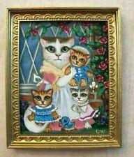 Dollhouse miniature Cats Tom kitten after Beatrix Potter painting  OOAK 1:12