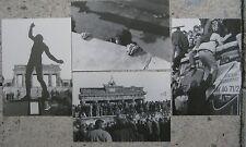 4 x Berliner Mauer Ansichtskarte Ausstellunsprojekt Carl-Zeiss-Oberschule 1990