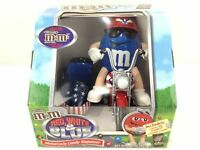 VTG M&M RED, WHITE, & BLUE MOTORCYCLE CANDY DISPENSER