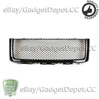 For 2007-2013 GMC Sierra 1500 Front Upper Hood Grille Black Mesh w/ Cover Guard