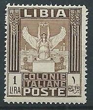 1924-29 LIBIA PITTORICA 1 LIRA MNH ** - T23