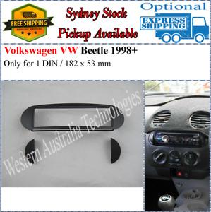Fascia facia Fits Volkswagen VW New Beetle 1997-2010 Single One 1 DIN Dash Kit*