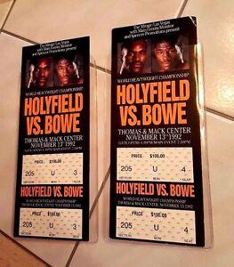(2) Holyfield vs. Bowe Unused FULL Tickets
