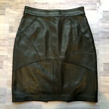T by Alexander Wang Black Leather Lambskin Mini Skirt size Small Gorgeous