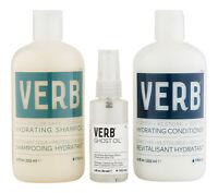 Verb Hydrating Shampoo & Conditioner 12 oz & Ghost Oil 2 oz. Hair Care Set