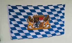 Hissflagge Bayern mit Wappen, Größe 150 x 90 cm Sonderposten