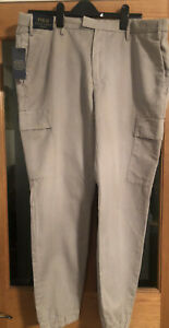 Ralph Lauren Polo Trousers/chinos W38 L32 In Light Grey Brand New