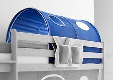 Tunnel pour lit à étage et lit mezzanine Campagne Bleu-Blanc