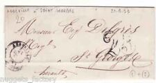 Marque Postale Abbeville pour St Georges 1853  ( 002 )