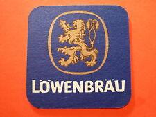 Vintage Beer Coaster ~*~ LOWENBRAU Bier ~ Munich Brewery Since 1383 ~ Breweriana